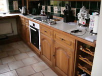 Fitted kitchen with oak doors