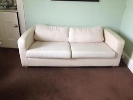 REDUCED Habitat Cream Metal Action Sofa Bed