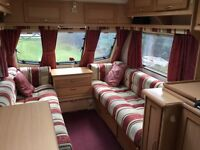 "2 Berth Elddis Avante Caravan, 2001 ""Burghley"" Special Edition, with Bradcot ""Classic"" Full Awning."