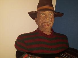FREDDY KRUEGER TALKING BUST - A Nightmare on Elm Street Lifesize NECA 2006