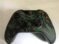 Custom Green Leaf xbox one controller