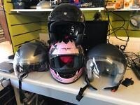 Various motorbike helmets all new