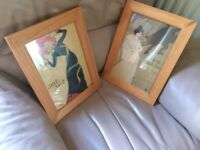 Pine framed pictures (2)