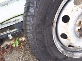 Spare wheel New tyres