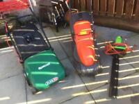 Lawnmowers and hedge trimmer for sale