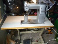 Singer Twin Needle, needle feed Industrial sewing machine( For Leather, canvas, & the like