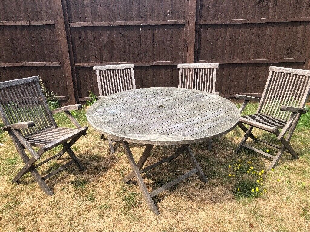Teak Table And Chairs Vintage In Witham Essex Gumtree - Teak table and 4 chairs