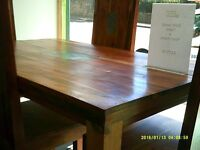 modern Solid wood Dinning table and 4 chairs