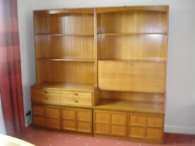 Lovely Mid-century Teak Nathan Wall Units