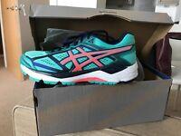 ASCICS Gel-foundation 12 Running Shoes NEW - Size 7 - Women's Aqua mint/flash Coral
