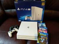 Playstation 4 pro 4k with 2 controllers + 3 games