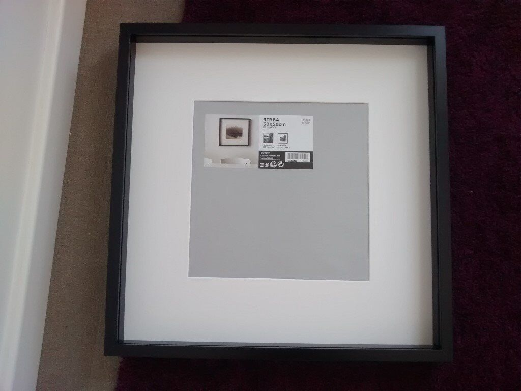 Ikea ribba picture frame 50x50cm no glass insert in cambridge ikea ribba picture frame 50x50cm no glass insert jeuxipadfo Images
