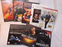 8 DVDs - War of the Worlds, Sin City, Shogun Assassin, Amadeus, The Company, The Office (US).