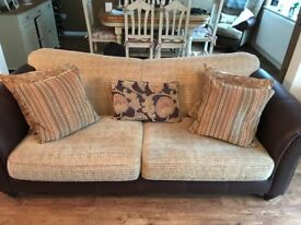 3 Piece Suite & Footstool - 3 years old in immaculate condition.