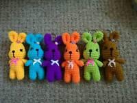 Crochet bunny keyring 5 inches,£3 each