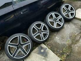 Fox Racing R6 Alloy wheels 17 inch 205 40 5x100