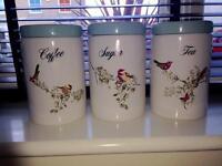 Dunelm Beautiful Birds Storage Jars