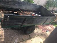 Tipper trailer ideal for a large garden/stables £40 Ono
