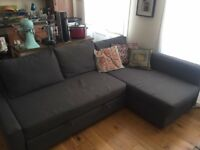 Dark Grey Corner Sofa Bed w/ Storage - Ikea FRIHETEN for £160 orig. £429 - Great Condition