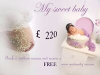 Book a newborn session and receive a FREE mini maternity session