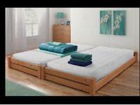 Brand New Pine Single Stakka Beds with Mattresses