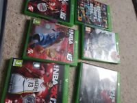 Selling xbox one with kenict 500gb also games
