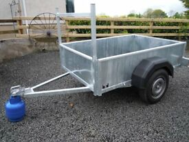UNUSED MULTIPURPOSE CAR TRAILER 6X4 SUIT BUILDER/ GARDENER/ QUAD/ MACHINERY/ CAMPER/ CARAVAN