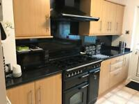 Howdens beech effect kitchen Units and appliances.
