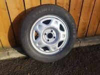 Chevrolet spark 14inch wheel with good tyre