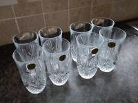 Set of 8 lead crystal tumblers