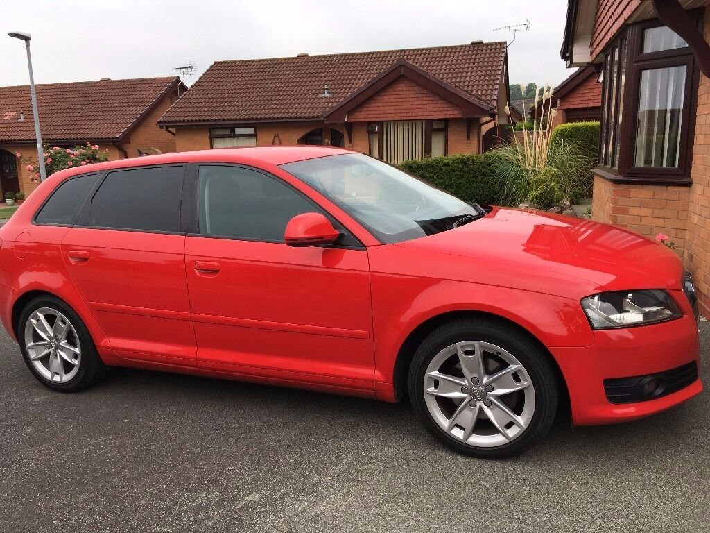 audi a3 2ltr tdi diesel automatic sportback 2010 60 reg red 5 door in abergele conwy gumtree. Black Bedroom Furniture Sets. Home Design Ideas