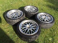 18 Cades Tyrus staggered Mesh cross spoke alloy wheels for BMW e36 e46