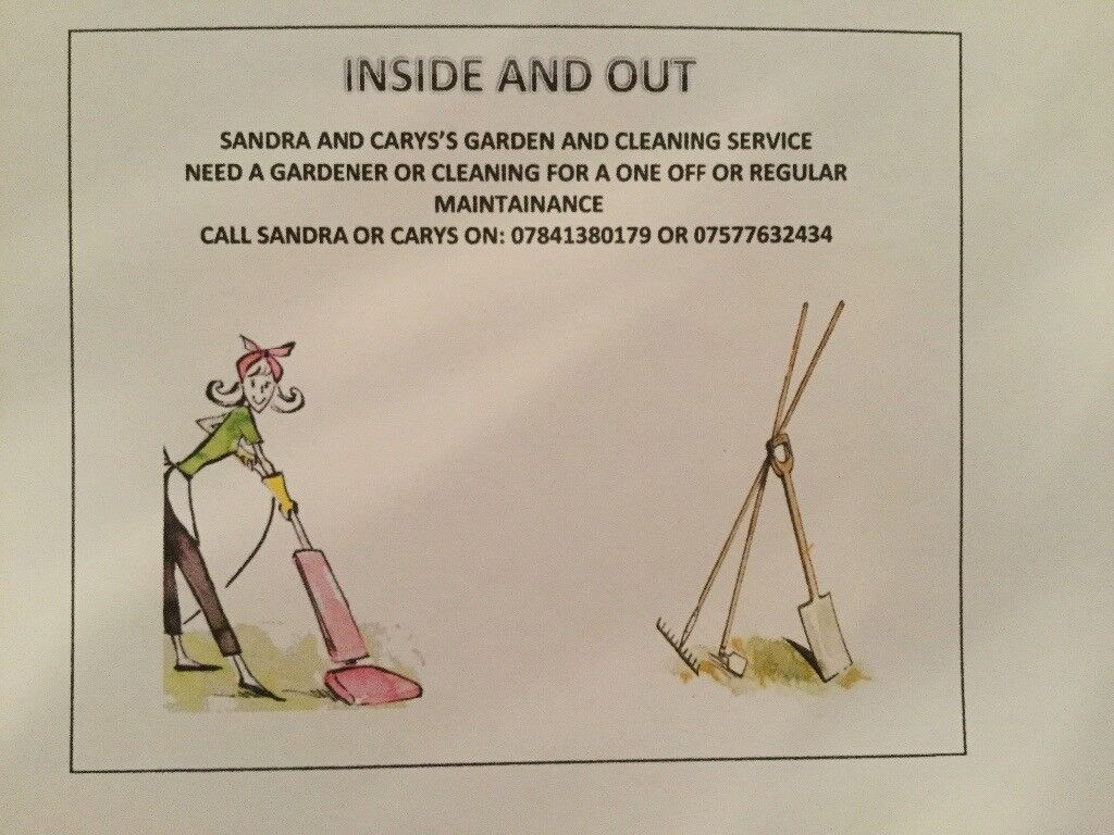 Garden maintainance and house cleaning service