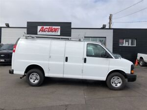 2017 Chevrolet Express 2500 shelving, ladder rack, safety partit