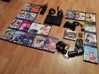 Ultimate Kids Slim Ps2 Playstion 2 Console Bundle 20 Games Spyro Sonic Street Figher Gt 3 And 4
