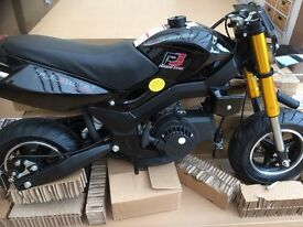 Mini Motaro 49cc two stroke bike - won in a competition (unwanted) still boxed not assembled