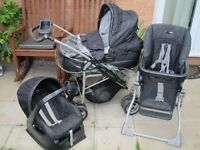Mamas & Papas Ultima MPX Travel System 9 in 1 in City Scape £299, rrp £999 INCL Isofix & Extras