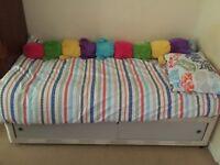 Single divan bed with silent night mattress