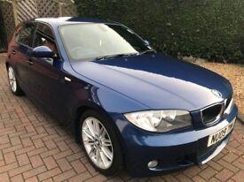 BMW 1 SERIES 123d M SPORT 63,000 MILES 5 DOOR MANUAL 2.0 DIESEL 2009