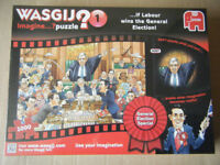 """Wasgij Imagine puzzle, """"General Election Special, Labour"""". 1000 pieces. New & Sealed."""