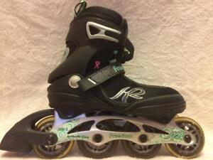 LIke NEW K2 Freedom Inline Skates (Rollerblades) 80mm/80A ABEC-5 Women's Size 7