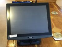 QUBE EPOS TILL WITH CASH DRAWER AND RECIEPT PRINTER UNIWELL HX-4500