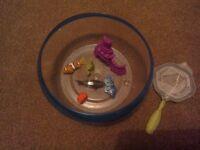 Robofish x 3 plus bowl and net