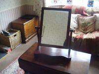 Mahogany Victorian Dressing Table Swing Mirror