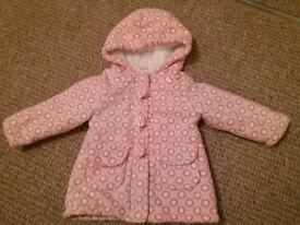 Bluezoo (debenhams) baby girl coat 9-12 mths