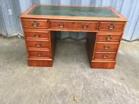Reproduction leather topped Desk