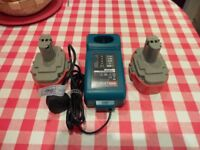 MAKITA BATTERY CHARGER AND BATTERIES
