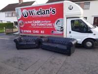 Chesterfield 3&2 seater sofa in black leather £745