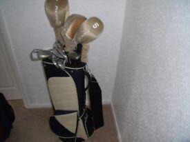 full set of ladies golf clubs in bag