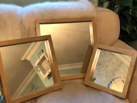 Set of 3 Next mirrors